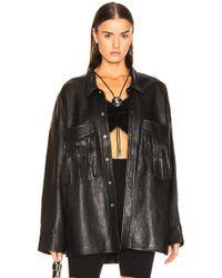 R13 - Fringe Leather Shirt - Lyst