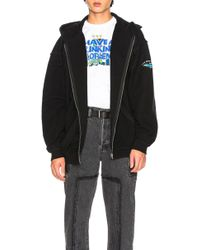 Vetements - Oversized Inside Out Zip Up Hoodie - Lyst