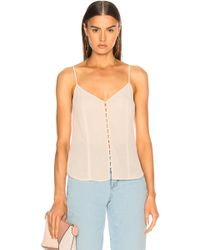 L'Agence - Emiliana Button Up Tank - Lyst