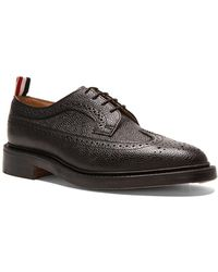 Thom Browne - Pebble-grain Leather Wingtip Brogues - Lyst