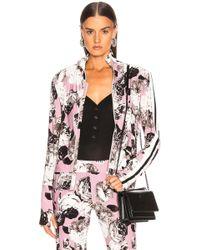 Norma Kamali Side Stripe Turtle Jacket - Pink