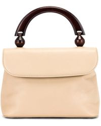 BY FAR Fiona Leather Top Handle Bag - Weiß