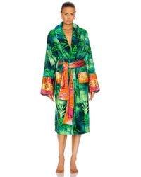 Versace Jungle Bath Robe - Green