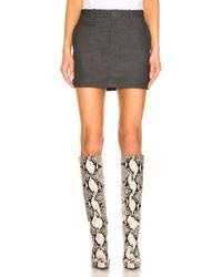 R13 Mini Skirt - Gray
