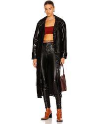 Jonathan Simkhai Paulette Vegan Leather Trench Coat - Black