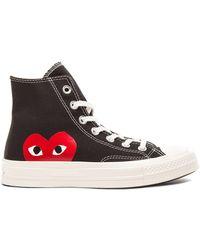 Comme des Garçons - Large Emblem High Top Canvas Sneakers - Lyst