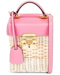 Mark Cross Grace Rattan Cube Bag - Pink
