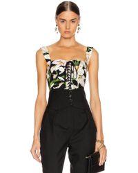 Dolce & Gabbana - Lace Up Short Corset Top - Lyst