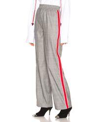 CALVIN KLEIN 205W39NYC - Check Wide Leg Trousers - Lyst