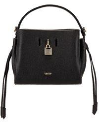 Tom Ford Padlock Small Top Handle Bag - Black