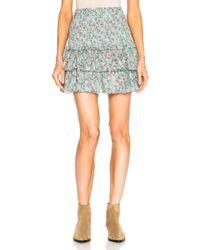 Étoile Isabel Marant - Naomi Printed Embroidered Mini Skirt - Lyst