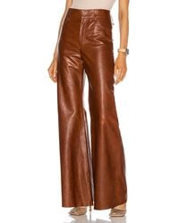 Chloé Leather Pant - Brown