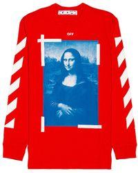 Off-White c/o Virgil Abloh Mona Lisa Long Sleeve Tee - Red