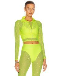 Adam Selman Sport Long Sleeve Crop Top - Multicolour