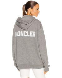 Moncler Maglia Con Cappuccio Hoodie - Grau