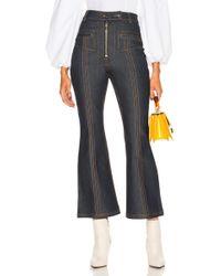 Ellery - Hemisphere Crop Flare Jeans - Lyst