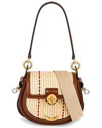 Chloé Small Tess Raffia Crossbody Bag - Brown