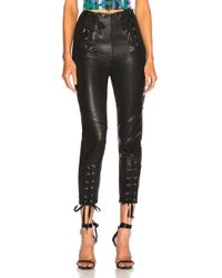 Marissa Webb - Nilda Leather Lace Up Pant In Black - Lyst
