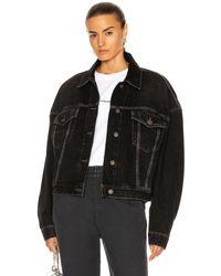 Acne Studios Oversized Denim Jacket - Black