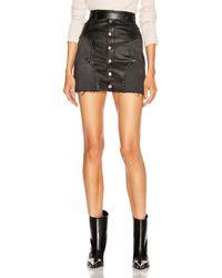 Amiri Western Mix Mini Skirt - Black