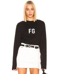 Fear Of God Long Sleeve 'fg' Tee - Black