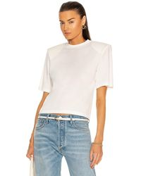Daniele Carlotta Padded Shoulder Jersey T-shirt - White