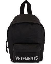 Vetements Strass Backpack - Black