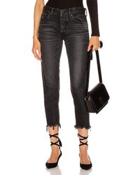 Moussy Staley Tapered Straight Leg - Black