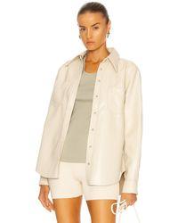 Agolde Paloma Vegan Leather Shirt - Natur