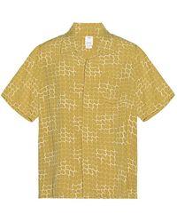 Visvim Free Edge Short Sleeve Shirt Lattice - Gelb