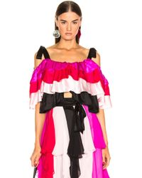 Rodarte - Tiered Off The Shoulder Blouse - Lyst