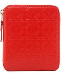 Comme des Garçons Star Embossed Zip Fold Wallet - Red