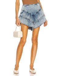 Mother The Ruffle Mini Skirt - Blau