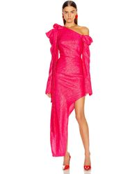 Hellessy Loulou Asymmetrical Dress - Pink