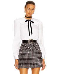 Alessandra Rich Cotton Poplin Top - White