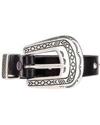 Alanui Engraved Studded Leather Belt - Schwarz