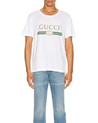 Gucci Logo Oversize Washed Tee - Weiß