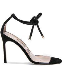 Manolo Blahnik - Suede Estro 105 Sandals - Lyst
