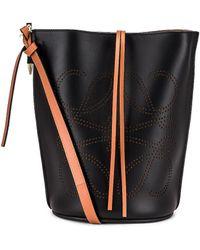 Loewe Gate Bucket Anagram Bag - Schwarz