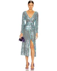 RIXO London Emmy Dress - Blue