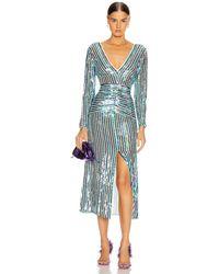 RIXO London Emmy Dress - Blue