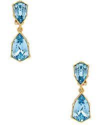 Oscar de la Renta Crystal Drop Earrings - Metallic