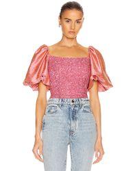 Markarian Orlando Puff Shoulder Top - Pink
