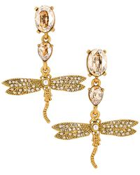Oscar de la Renta Dragonfly Drop Earrings - Mettallic