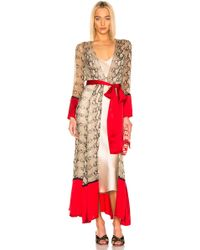 We Are Leone Contrast Maxi Cardigan - Red