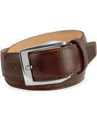 Pakerson - Men's Coffee Brown Hand Painted Italian Leather Belt - Lyst
