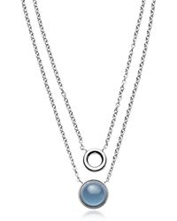 Skagen - Sea Glass Layered Pendant Necklace - Lyst