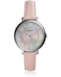Fossil Jacqueline Three-Hand Date Blush Women's Watch - Mettallic