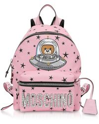 Moschino - Pink Space Teddy Bear Backpack - Lyst