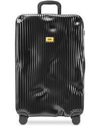 Crash Baggage Stripe Trolley Large in Policarbonato a Righe - Nero
